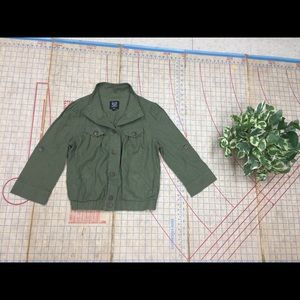 Cropped Army green fatigue jacket size medium